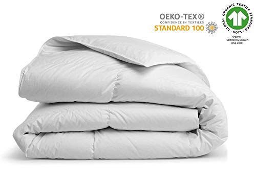 "A1 Home Collections A1HC 100% New Zealand Wool Organic Duvet Insert 400 gsm Full/Queen 88""X92"" Stand Alone Comforter White"