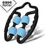 easeZone Muskel-Massageroller, Faszien & Massage-Gerät mit Griff für Selbstmassage. Entspannung von Nacken, Oberschenkel, Unterarm, Wade, Füße und Beine. Faszienrolle, Triggerpunkt & Massagerolle