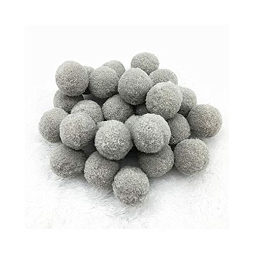 YVCHEN Fluffy Soft Pompom Plush Pom Poms Ball Pompones Handmade Sewing Craft Kids Toy Wedding Decor (Color : Gray, Size : 10mm 144pcs)