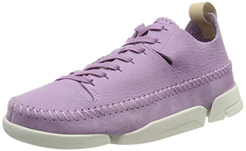 Clarks Damen Trigenic Flex. Sneaker, Beige (Lavender NBK Lavender NBK), 42 EU