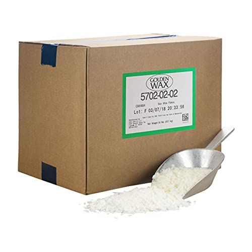 Golden Brand 464 Soy Wax Flakes, All Natural Soy Wax Wholesale Wax for Candle Making Supplies (45 LB)
