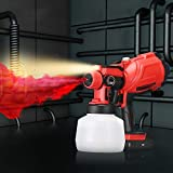 Upgraded Cordless Paint Spray Gun With Lighting And Shoulder Strap 3 Spraying Modes And Adjustable Valve Knobs 1200ml Removable Container Spraying Fences, Cabinets, Walls And Various Painting Projects
