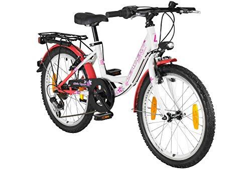 tretwerk DIREKT gute Räder Little Queen 20 Zoll Trekkingbike Mädchen, Kinder-Fahrrad mit Gepäckträger