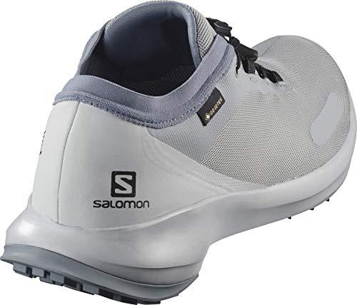 SALOMON Men's Sense Feel Gtx Trail Running Shoes, Grey Quarry Pearl Blue Flint Stone Quarry Pearl Blue Flint Stone, 11 UK