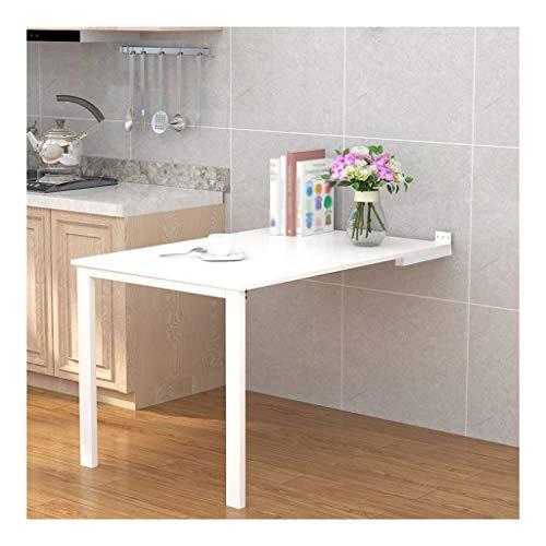 WEN HAO-wandklapptisch Wandmontage Boden Tisch Weiß Multifunktionsfalten Artificial Brett Esstisch Wohnzimmer-Wand-Tisch, Schreibtisch, Computer-Tabelle (Size : 80 * 60cm)