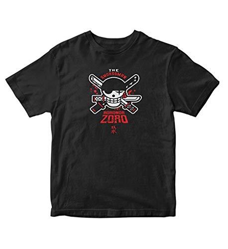 Sunyuer Camiseta gráfica Hombre Anime One Piece The Swordsman Roronoa Zoro Fashion Manga