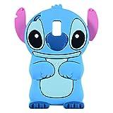 Galaxy J3 Orbit Case, J3 Achieve, Express Prime 3, Prime 2, Emerge 2018, Amp Prime 3, Eclipse 2 Case, 3D Cartoon Cute Blue Alien Animal Soft Silicone Cover for Samsung Galaxy J3 2018 Aura Star (Blue)