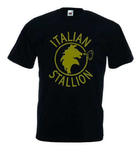 World-of-Shirt Italian Stallion Herren T-Shirt Trikot|L