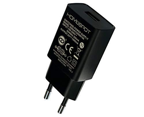 HomeSpot kompaktes Universal USB Ladegerät/Netzteil /5V1A mit EU Stecker für iPhone, iPad, Samsung Galaxy, Nexus, HTC, Motorola, LG und weitere USB Geräte (Nur Ladegerät)