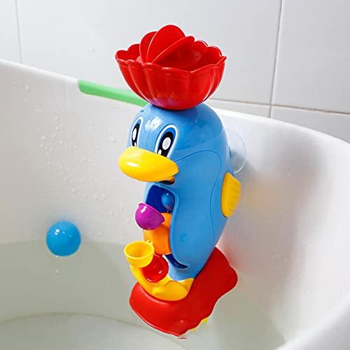 WWWL Juguetes baño Bebe Niños Ducha baño Juguetes Lindo Pato Amarillo Rueda de Agua Elefante Juguetes bebé Grifo baño Herramienta de pulverización de Agua Dabbling Juguete ASeal