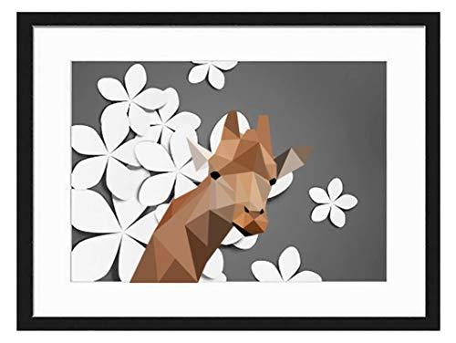 prz0vprz0v 11 x 13 inch zwart fotolijst Giraffe decoratieve kunstdrukken en hangende sjabloon, modern fotolijst