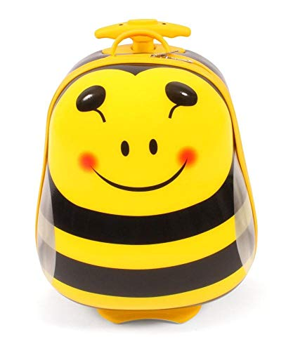 Bayer Chic 2000 - Bouncie Kinder-Trolley mit 3D-Bienen-Motiv Kindergepäck, 20 Liter, Biene
