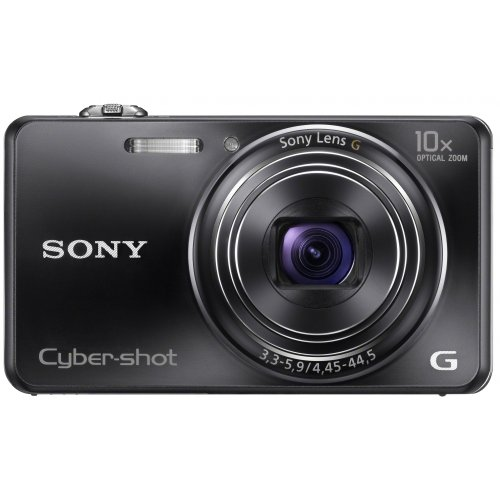 Sony DSC-WX100B Cyber-shot Digitalkamera (18 Megapixel, 10-fach opt. Zoom, 6,7 cm (2,7 Zoll) Display, Schwenkpanorama) schwarz