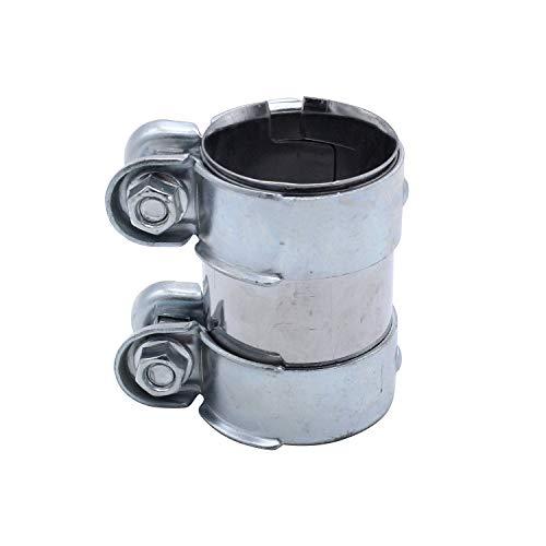 TAKPART Auspuffschelle Rohrverbinder Doppelschelle Auspuffrohrklemme Ø 55mm x95mm 1K0253141M