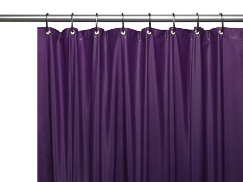 Carnation Home Fashions Hotel Collection 8-Gauge Vinyl Shower Curtain Liner with Metal Grommets, Purple