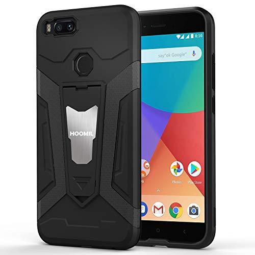 HOOMIL Stoßfest Schutzhülle für Xiaomi Mi 5X Hülle, Xiaomi Mi A1 Hülle, Silikon Handyhülle für Xiaomi Mi 5X / Mi A1 Case (Schwarz)