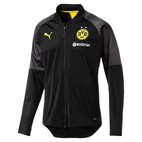PUMA Herren BVB Stadium Poly Jacket with Sponsor Logo Trainingsjacke, Black, S