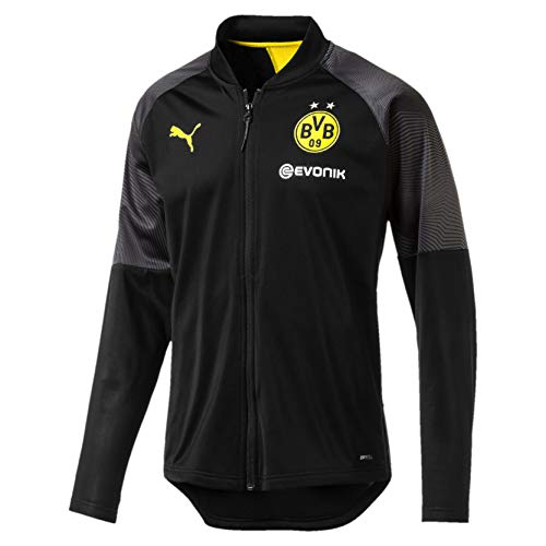 PUMA Herren BVB Stadium Poly Jacket with Sponsor Logo Trainingsjacke, Black, L