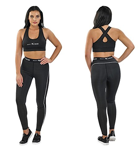 Body Xtreme Fitness Trainingshose, 1 Stück, Damen, Bikini (Two-Piece), 1 Pack Training Leggings, schwarz, Small