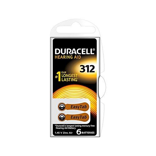 12Batterien Duracell Easy Tab 312PR411.45V einschlägigem braun DA312N6