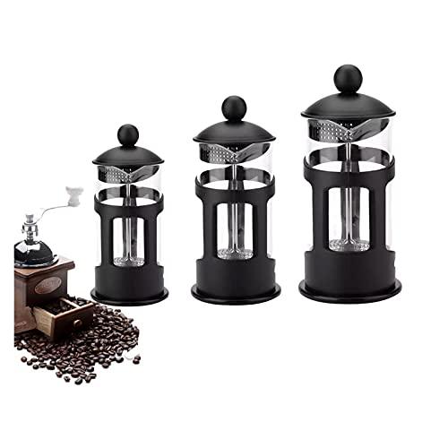 TYBM Máquina de café Negro Gran Vidrio de Acero Inoxidable con Aislamiento de Acero Inoxidable Adecuado para Desayuno Máxima máquina de café con Sabor a máquina 350/600/800 ml