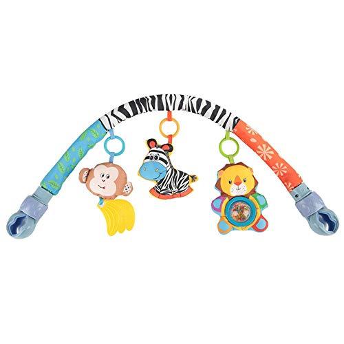 Colgando Cama Juguete de felpa, Diseño de dibujos animados lindo Bebé Sillón Colgando Timbre Campana Cochecito Coche Sonajero Actividad Juguete para 0-3 años
