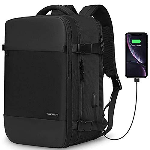 ラップトップバックパックキャリーオンバッグメンズシューズコンパートメントUSB充電ポートレディースフィット15.6ラップトップ