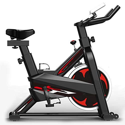 TIM-LI Bicicleta estática para Ciclismo en Interiores con Pantalla LCD, Asiento Ajustable para Entrenamiento Cardiovascular en casa, Capacidad 264 LBS