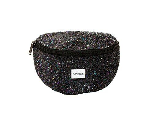 Spiral Midnight Stardust Bum Bag Riñonera de Marcha, 24 cm, 3 Liters, Negro (Black)