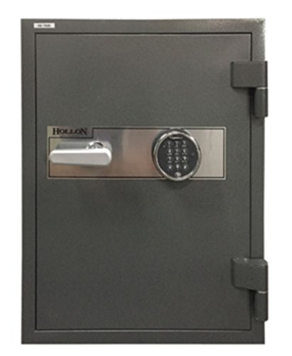 Hollon HS-750E 2 Hr. Fireproof Home/Office Safe, 2.43 cu. ft., Electronic Keypad Lock Charcoal Gray
