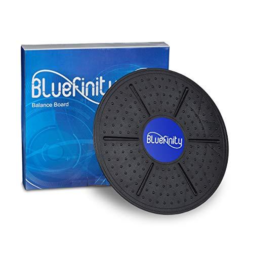 Bluefinity Balance Board, bis 100 kg, D: 36 cm, rutschfeste Noppen, Gleichgewichts-Training, Therapiekreisel, schwarz