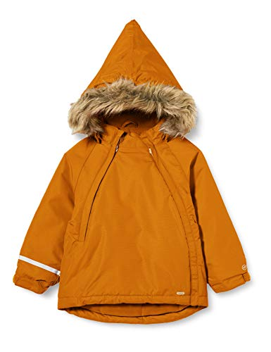 MINYMO Unisex-Child Snow Tussor solid Jacket, Pumpkin Spice, 98