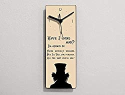 alice in wonderland quotes on wall clock