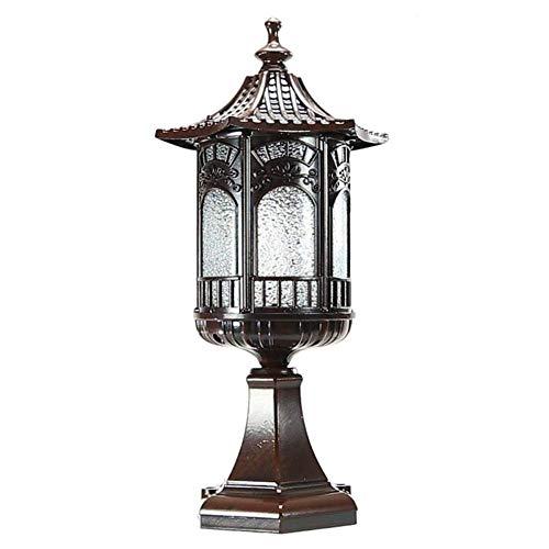 ZYLE Pon Las Luces Exteriores, Accesorios de lámpara de Pared Poste de luz Faros Aire Libre jardín Luces