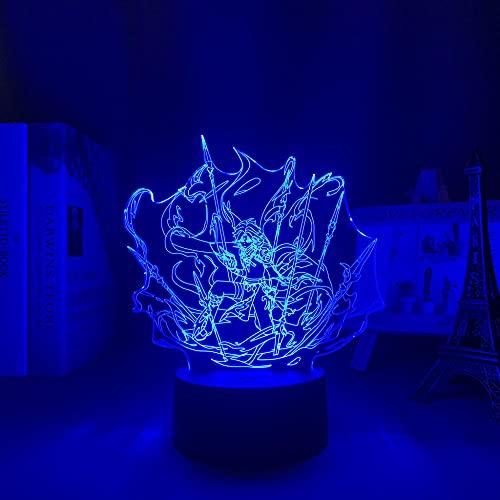 Luz nocturna 3D LED 3D, lámpara de acrílico para juegos de niñas y niños