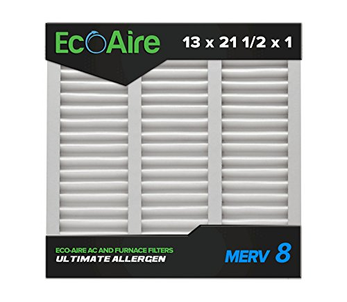13 x 21 1/2 x 1 MERV 8 Pleated Air Filter: Replaces Bryant/Carrier Part # KFAFK0112SML, Box of 6