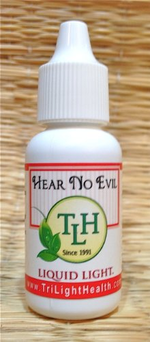 Hear No Evil (1/2 oz Bottle) - Ear Drops for Ear Infections, Healing and Pain Relief. by TriLight Health
