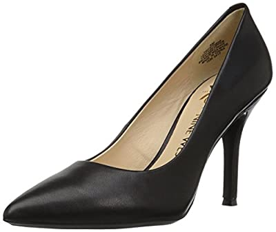 Nine West Women's FIFTH9X Fifth Pointy Toe Pumps, Black Calf Leather - 7 B(M) US