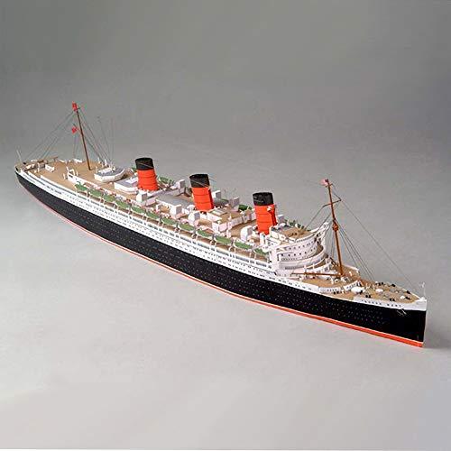 ELVVT 1: 400 británico Queen Mary modelo de crucero a mano de alta dificultad del arte de papel de bricolaje decoración modelo regalos de cumpleaños del juguete for los aficionados militares adulto de