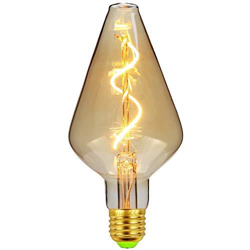 TIANFAN Vintage LED-Lampen 4W dimmbar unregelmäßig geformte 220 / 240V Edison Schraube E27 Basis Spezialität dekorative antike Glühbirne (Vase)
