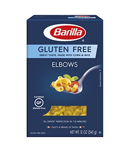BARILLA Gluten Free Elbows Pasta, 12 Ounce (Pack of 8) - Non-GMO Gluten Free Pasta Made with Blend of Corn & Rice - Vegan Pasta