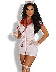 Provocative PR1288 Klein/Medium Wit/Rood Sexy Liefde Verpleegster Kostuum