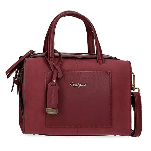 Pepe Jeans Lorain Bowling-Tasche Rot 28x21x14 cms Synthetisches Leder