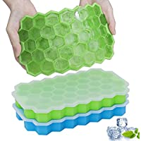 2-Pack Gdreamt Silicone Ice Tray with Removable Lid