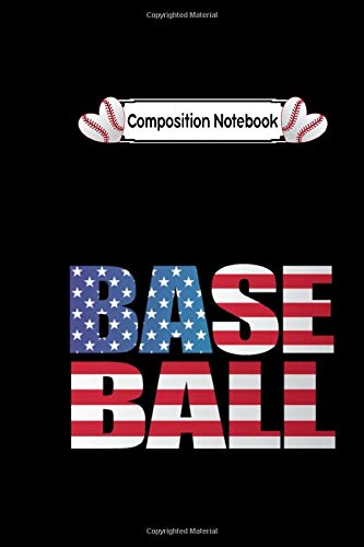 Composition notebook: american baseball flag usa baseball team: CollegeRuled 6x9 100 pages bleed