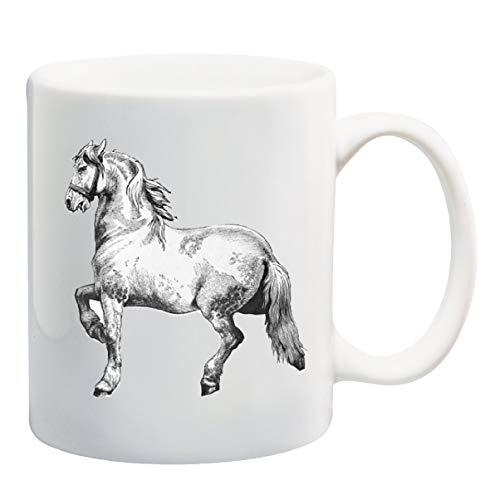 dingjiakemao-mug Pferd Bleistift Zeichnung Becher Tasse - 11 Unzen