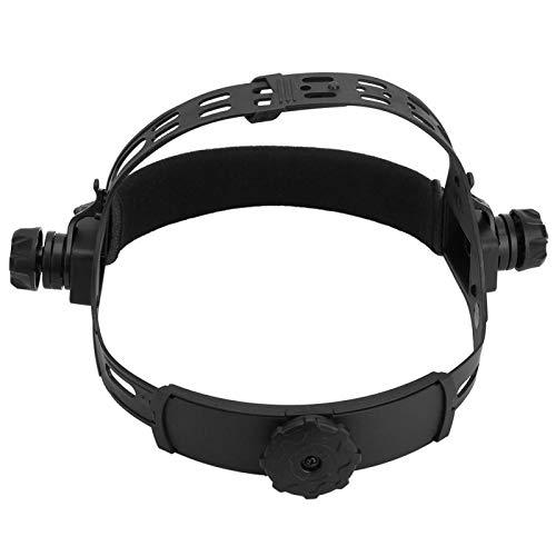 Diadema para casco de soldadura, diadema para máscara de soldador de tamaño compacto de plástico funcional de alto rendimiento, ajustable para aplicaciones industriales de(black)