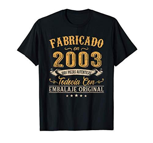 Fabricado En 2003 Regalo Para Hombre 17 Años Cumpleaños Camiseta
