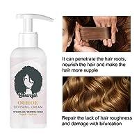 AliNature 巻き毛のためのヘアスタイリングクリーム長く長持ちするヘアケアエラスチンT7S0