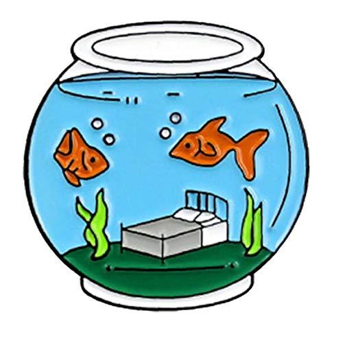 Swimming Pool Fish Bowl Pin Set Cartoon Broschen Abzeichen Für Kleidung Taschen Rucksäcke Fashion Pins